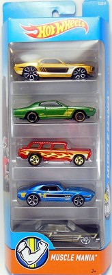 Hot Wheels 5 CAR PACK-MUSCLE MANIA