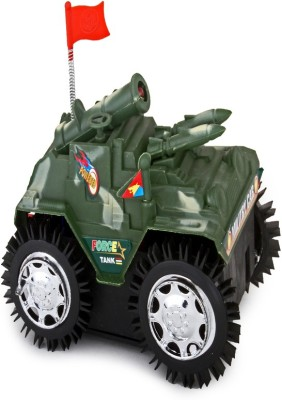 Foxy Flashing Top Light Tumbling Tank with Battery Included