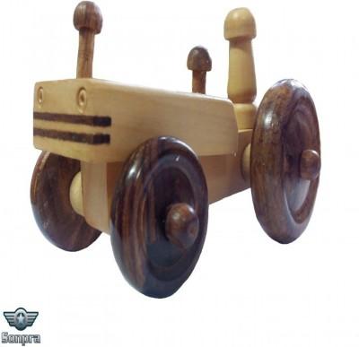 Sonpra Wooden Toy - Antique Handicraft Tractor