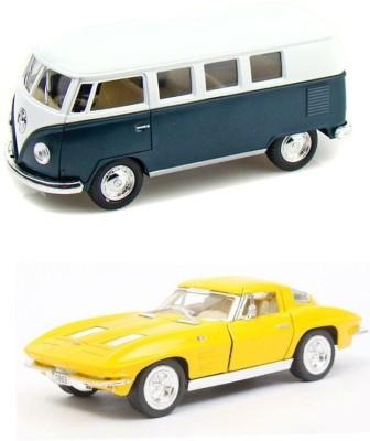 Kinsmart Volswagen 1962 Bus And Chevrolet Stingray