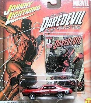 Johnny Lightning Marvel 13 Daredevil ,72 Gto Pro Stock Diecast Car