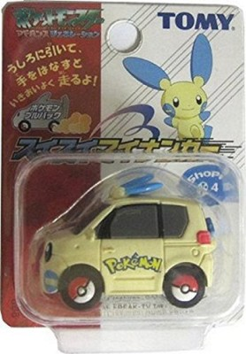 Takara Tomy Pokemon Ag Black & White Minun Plusle Pull Back Car Blue