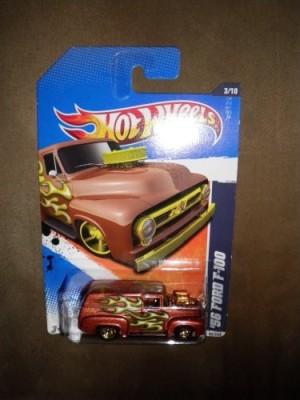 Hot Wheels 2011 Heat Fleet 93/244 Brown ,56 Ford F100 3/10