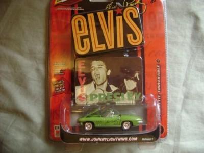 Johnny Lightning 67 Elvis Chevy Corvette Diecast Car