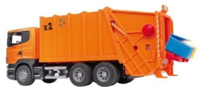 Bruder Scania Rseries Garbage Truck Orange