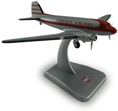 Hogan Wings Cordova Airlines, Douglas DC-3, Scale 1:200 (with Landing Gear)