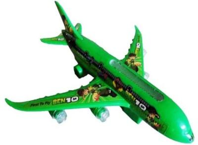 Turban Toys Battery Operated Ben10 Airbus Plane