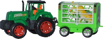 Toyzstation Tractor with Animal Trolley