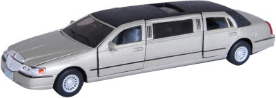 Baby Steps Kinsmart Die-Cast Metal 1999 Lincoln Town Car Stretch Limousine Gold