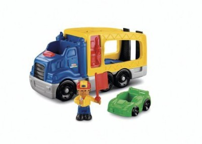 Fisher-Price World Of Little People Roberto And His Race Car Carrier