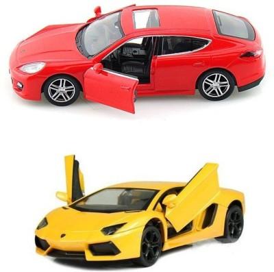 Kinsmart Porsche Panamera and Lamborghini Aventador