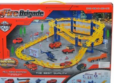 Planet of Toys Fire Brigade Car Track Set