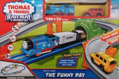 Jaibros Thomas and Friends Railway & Highway Train Set