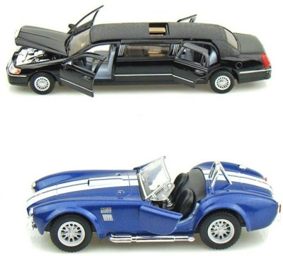 Kinsmart Lincoln Limosuine and Shelby Cobra