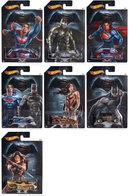 Hot Wheels BATMAN VS SUPERMAN CARS SET OF 7 SPECIAL