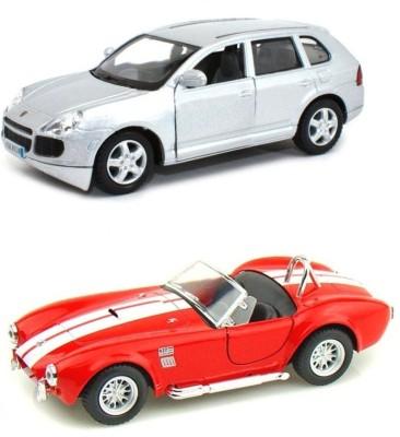 i-gadgets Kinsmart Porsche Cayenne Slv and Shelby Cobra rd