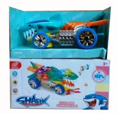 Turban Toys Shark shaped Car with light and music