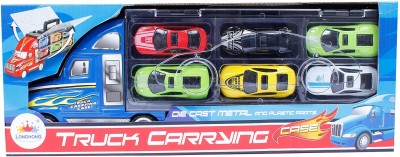 Buds N Blossoms Truck Carrying Case With 6 Diecast Cars