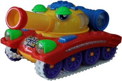 Adraxx 360 Rotating Wheel Crazy Red Toy Tank