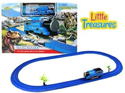 Little Treasures Easy-To-Build Toy Game Of Train Tracks