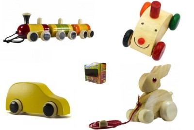 CeeJay Set of 4 Colorful Wooden Baby Toys:Model OW-OW003