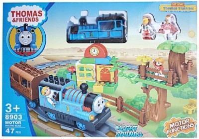 Buds N Blossoms Big Size Train Cum Block Set With 47 Pcs