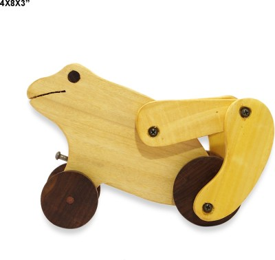 R S Jewels Handmade Frog Designs With Wheel Baby Toy