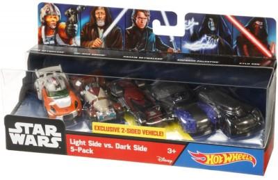HotWheels Star Wars Light Side vs Dark Side 5 Pack