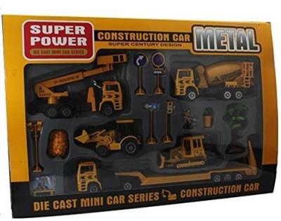 OliaDesign Metal Plastic Die Cast Construction Miniplayset