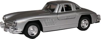 Adraxx 1:32 Silver Die Cast Metal Pullback Jaguar 1962 Model Toy Car