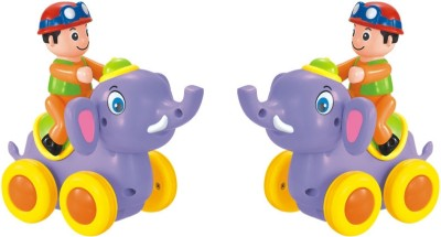 Huile Toys Friction Powered Elephant with Four Wheels