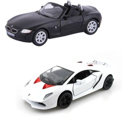 i-gadgets Kinsmart BMW Z4 blk and Lamborghini Sesto Wht