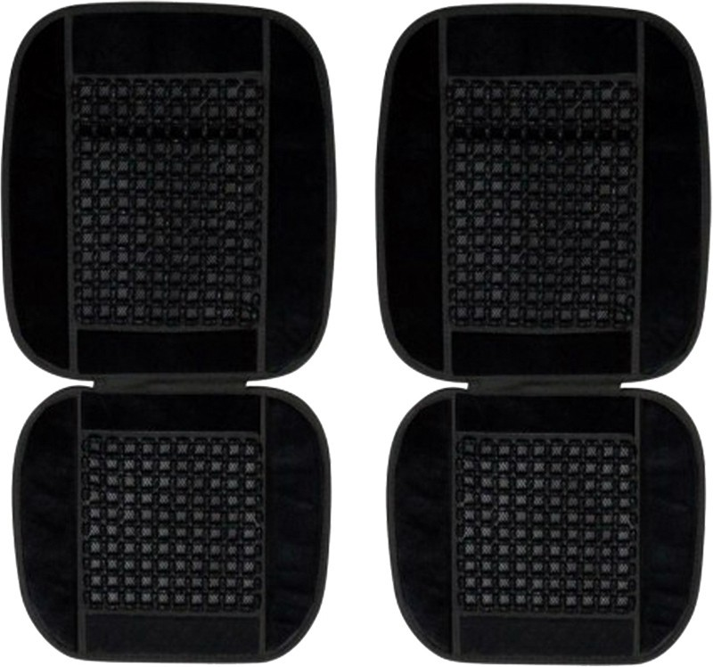 AutoKraftZ Cotton Seating Pad For  Ford New Fiesta(Front Seats Black)