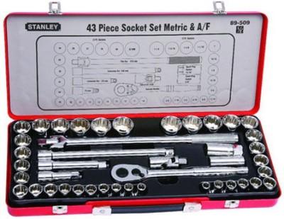 Stanley Mechanic Tools Kit Socket Set (43 Pcs)- 89-509 Vehicle Tool Kit
