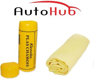 Auto Hub Chamois Leather Vehicle Washing  Cloth(Pack Of 1)