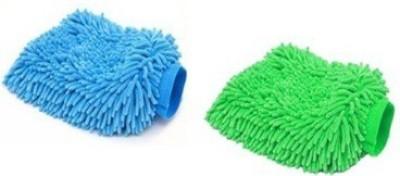Retina Microfiber Vehicle Washing  Hand Glove(Pack Of 2)