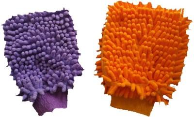 VRT Microfiber Vehicle Washing  Hand Glove(Pack Of 2)
