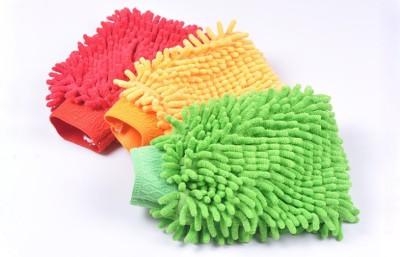 AutoStark Microfiber Vehicle Washing  Hand Glove(Pack Of 3)