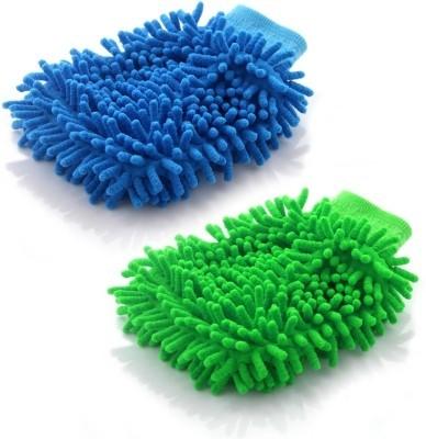 AutoStark Microfiber Vehicle Washing  Hand Glove(Pack Of 2)