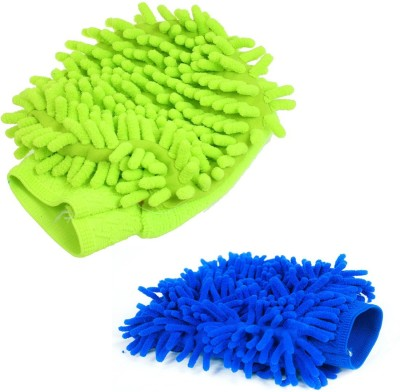 Sphiron Microfiber Vehicle Washing  Hand Glove(Pack Of 2)