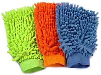 TRISHA Microfiber Vehicle Washing  Hand Glove(Pack Of 3)