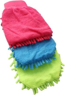 Spartan Microfiber Vehicle Washing  Hand Glove(Pack Of 3)