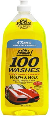 Formula 1 Car/Bike 100 Washes Wash and Wax Shampoo-828ml Car Washing Liquid