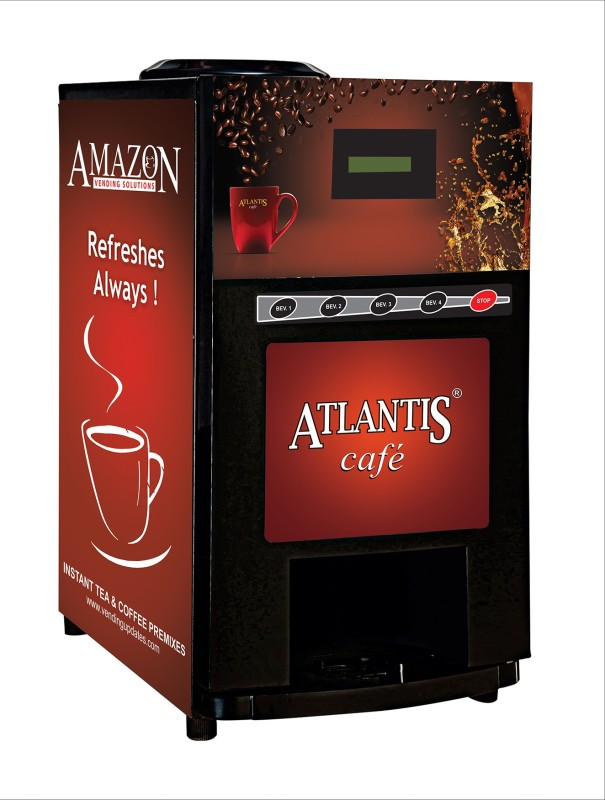 Atlantis Beverage Vending Machine(Red, Black)