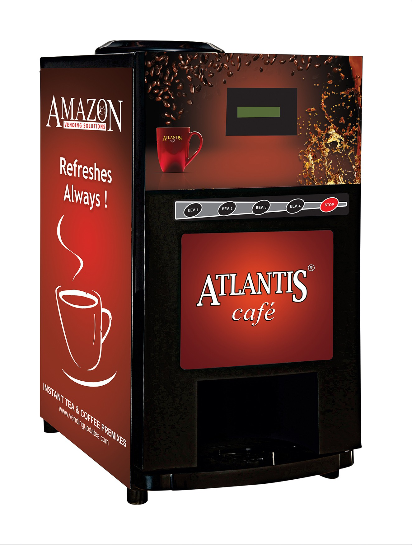 Atlantis Beverage Vending Machine(Red, Black) Image