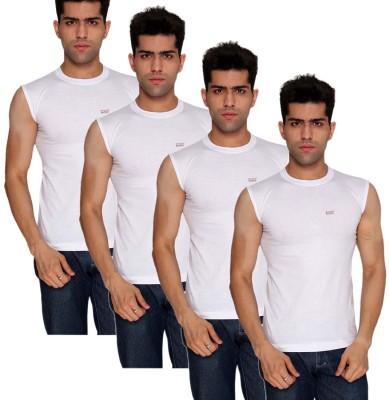 Nitlon Mens Vest(Pack of 4)