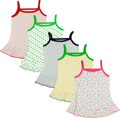 Myfaa Vest For Baby Girls(Multicolor, Sleeveless)