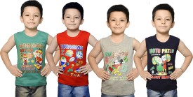 Bodysense Vest For Boys Cotton(Multicolor, Pack of 4)