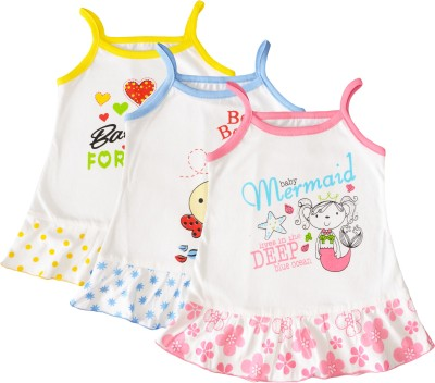 Myfaa Baby Girl's A-line Multicolor Dress