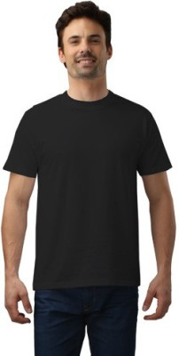 Force Nxt Solid Men's Round Neck Black T-Shirt